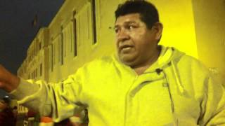 Lima Taxi driver describes where we are going to conduct surveys