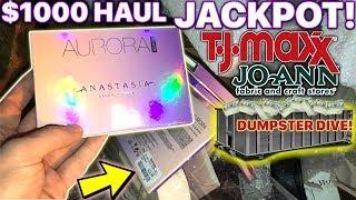 HUGE $1000+ DUMPSTER HAUL HAUL ! MAKEUP   DECOR *INSANE