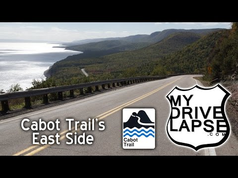 East Side of Cabot Trail to Wreck Cove, Cape Smokey Dashcam