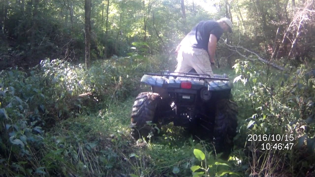 2002 yamaha grizzly 660 and 2011 kawasaki brute force 650 sra riding trails part 2 [ 1280 x 720 Pixel ]