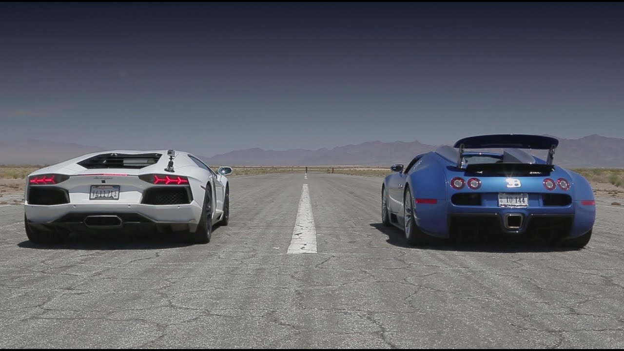 Bugatti Veyron Vs Lamborghini Youtube