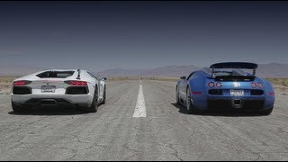 Bugatti Veyron vs Lamborghini Aventador vs Lexus LFA vs McLaren MP4-12C - Head 2 Head Episode 8 thumbnail
