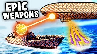 Zeppelin AIRSHIP vs US BATTLESHIP and Epic NEW WEAPONS! (Forts Update Gameplay)