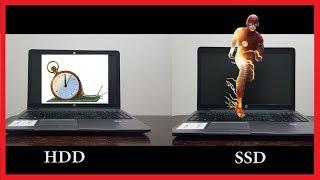 SSD vs HDD SPEED TEST!!