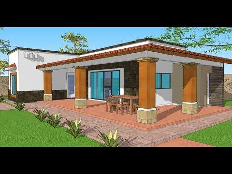 Plano casa de campo proyecto de arquitectura tradicional - Ideas para construir casas campo ...