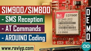 Using Arduino with SIM900/SIM800 for receiving SMS commands Video