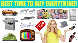Best Time of the Year to Buy EVERYTHING! (Month-by-Month Guide)