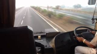 Volvo B9R - High Speeds On Mumbai Pune Expressway