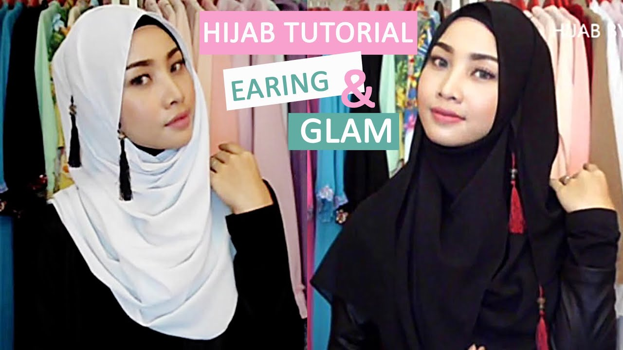 CHIT CHAT HIJAB TUTORIAL ALLS SCARF EARING STYLE AND GLAM