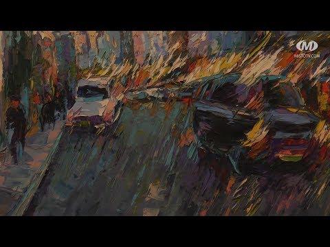 """МТРК МІСТО: """"Ритми міста"""" — на полотнах Сергія Овчарука"""