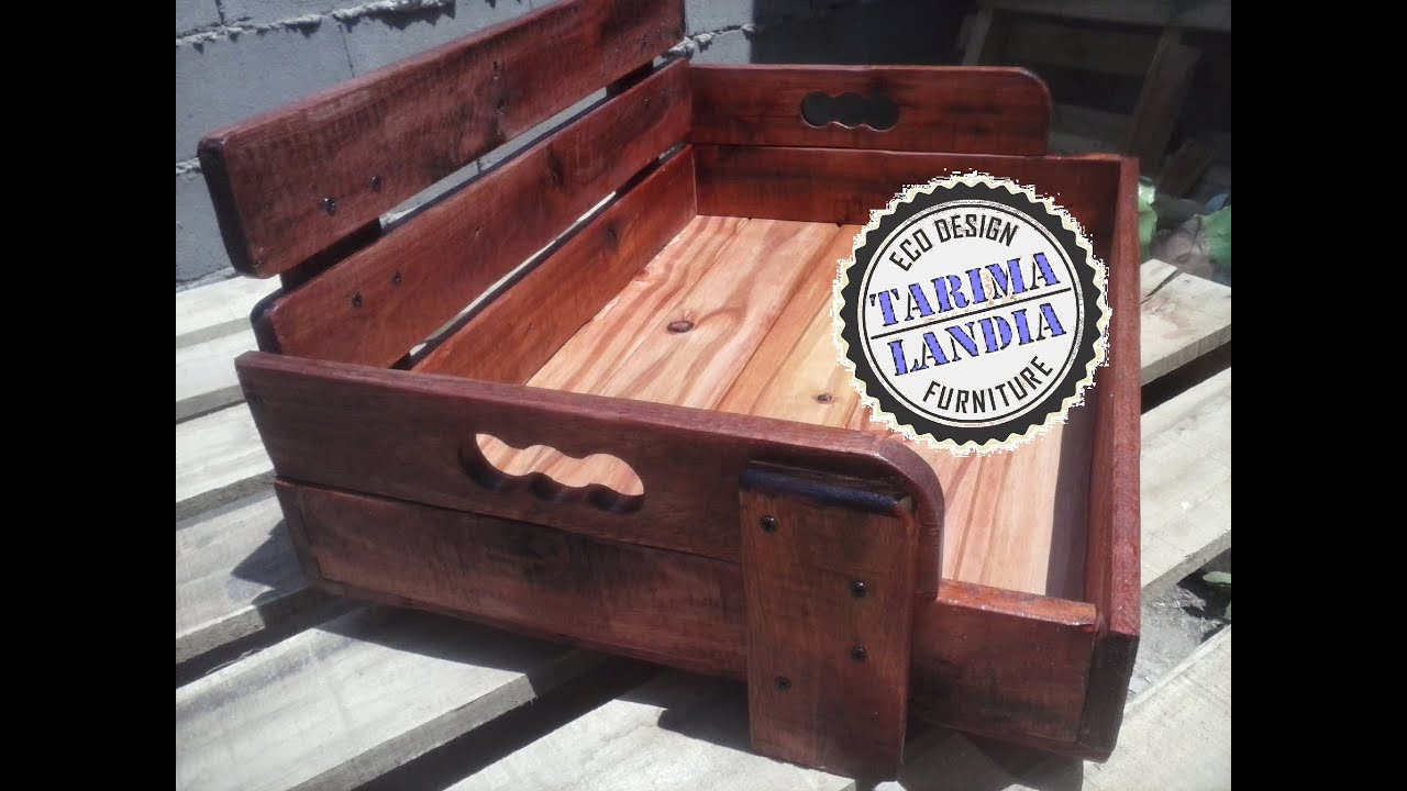 Cama para mascota madera reciclada de pallet youtube for Manual para hacer una cama de madera