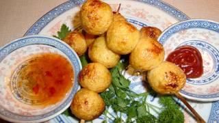 BBQ curry fishballs , 燒炸魚串踉咖哩汁