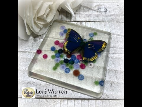 How to Create Dew Drop Coasters with Resin
