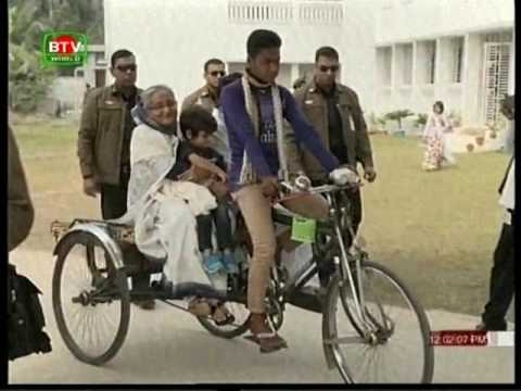 HPM Sheikh Hasina roams around Tungipara with grandchildren
