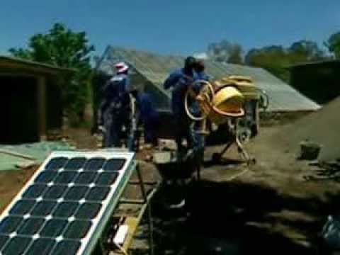 001 Solar Powered Concrete Mixer