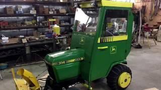 JD 314 Snow Cab Enclosure fabrication Part 1