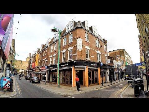 London Walk Around. Brick Lane from Shoreditch to Algate