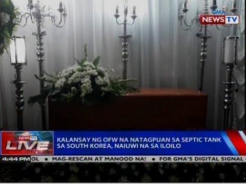 NTVL: Kalansay ng OFW na natagpuan sa septic tank sa South Korea, naiuwi na sa Iloilo