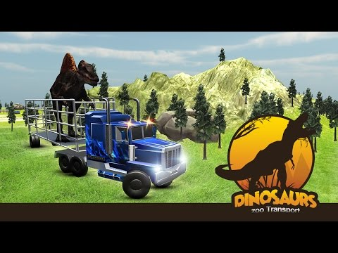 Angry Dino Zoo Transport Truck 3D