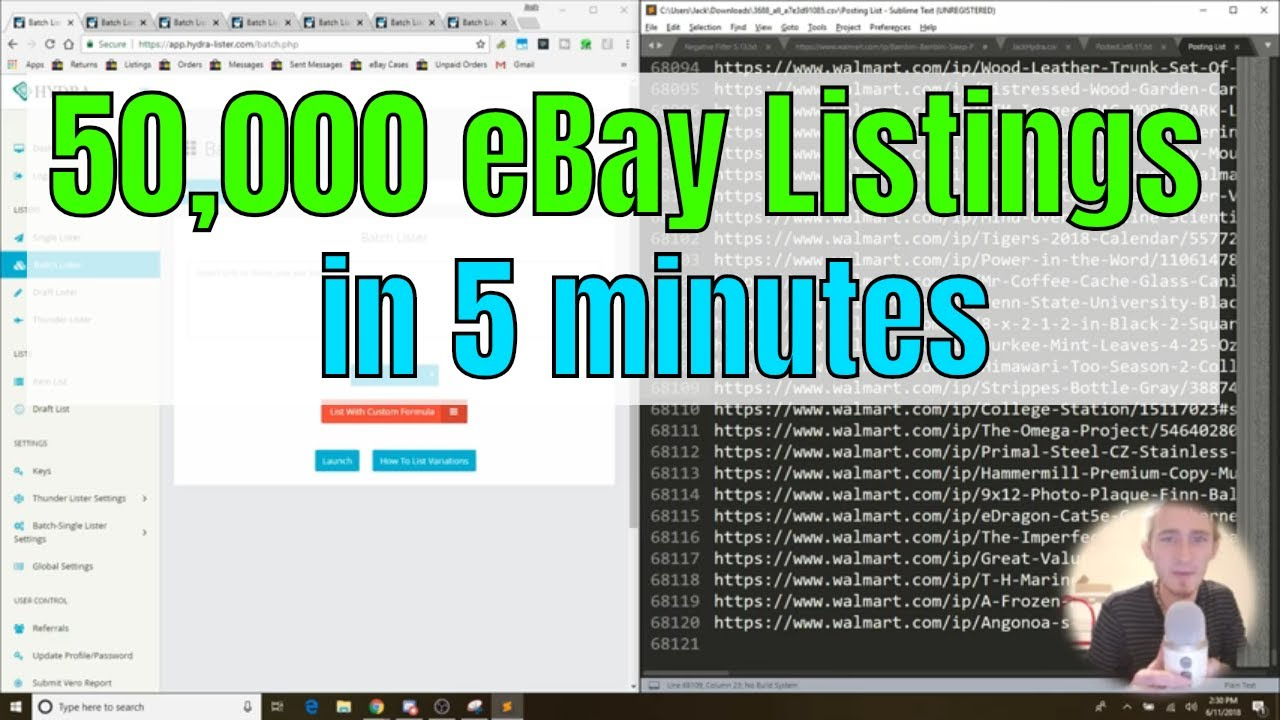 Posting 50,000 eBay Listings in 5 Minutes Using Hydra Lister