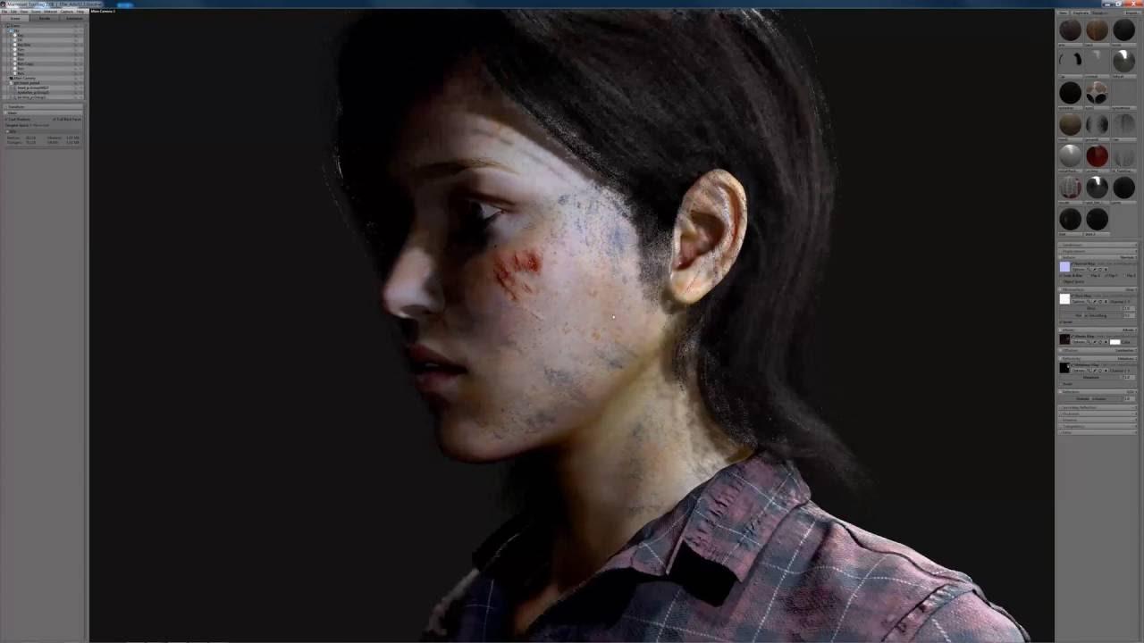 Ellie The Last Of Us Fanart Real Time Render Demo 4k