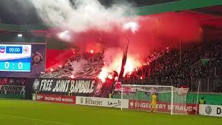 Ultras Frankfurt Pyroshow&Choreo, 20.12.17 DFB-Pokal FC Heidenheim - SG Eintracht Frankfurt