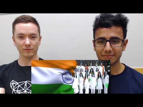 Indian National Anthem REACTION | American & Indian Exchange Culture | #ReactoFun
