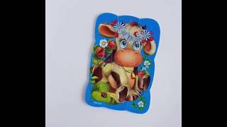 Vladi Toys VT3205-33 Пазлы на магните Коровка