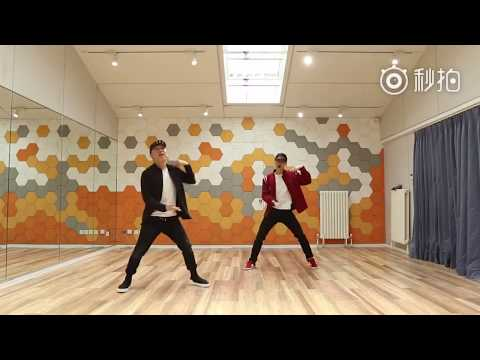 LAY Zhang Yixing 张艺兴 & 黄渤 Huang Bo dance practice for CCTV 最好的舞台