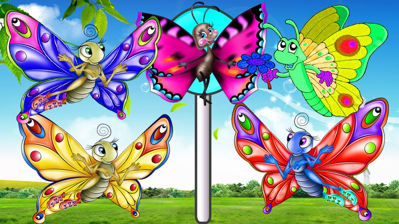 butterfly cartoon finger family rhymes cartoon for children
