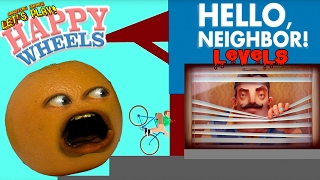 annoying orange plays happy wheels hello neighbor levels