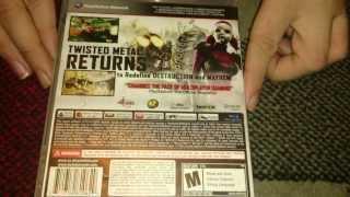 Nostalgamer Unboxes Twisted Metal On Sony Playstation 3 Three US Import NTSC Version