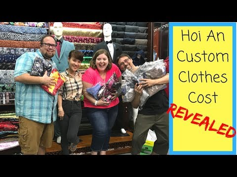 Custom Clothes Cost Revealed! | Travel Vlog | Hoi An, Vietnam