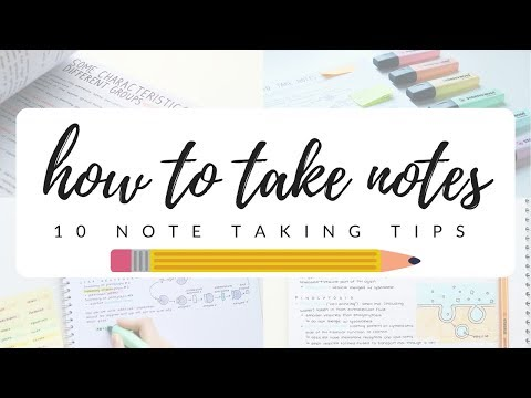 How to take efficient and neat notes - 10 note taking tips | studytee
