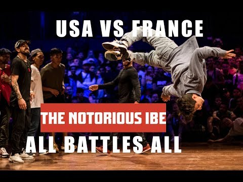 TEAM USA VS TEAM FRANCE |  ALL BATTLES ALL 2018 | THE NOTORIOUS IBE 2018