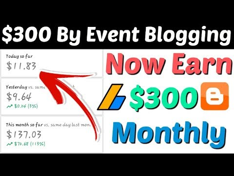 Make Event Blogging Website And Earn $300 Per Month | Create Event Blogging Website | Event Blogging