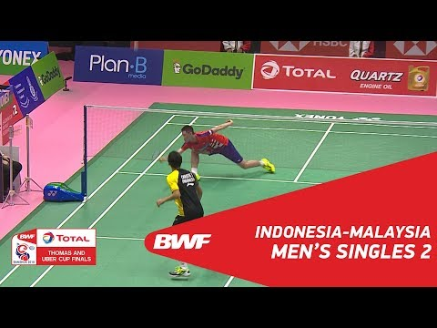 Thomas Cup | MS2 | Jonatan CHRISTIE (INA) vs LEE Zii Jia (MAS) | BWF 2018