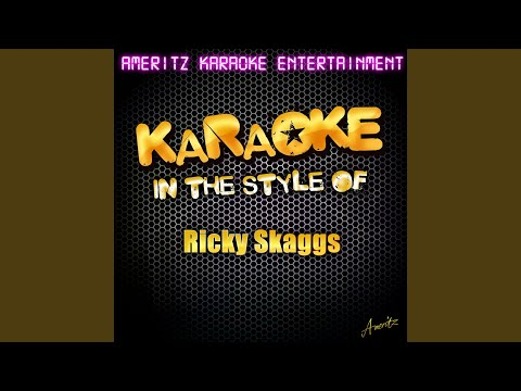 Halfway Home Cafe (In the Style of Ricky Skaggs) (Karaoke Version)