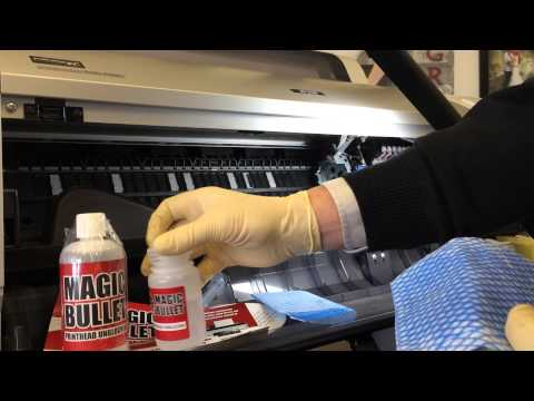 How to unblock a wide format inkjet printer - dried ink on printhead