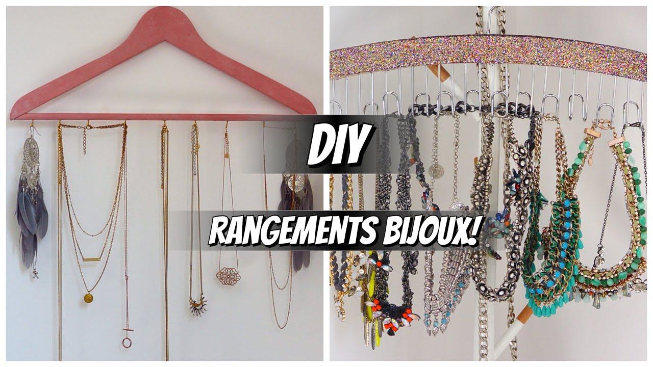 Diy n 2 3 rangements pour bijoux youtube - Rangement bijoux diy ...