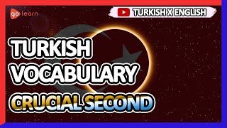 Learn Turkish |Part 9: Turkish Vocabulary Crucial second | Golearn