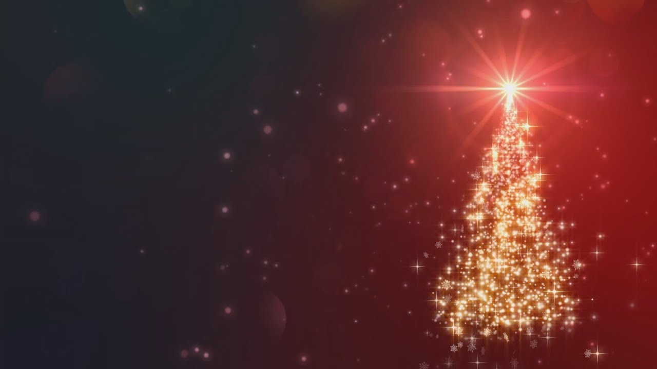 christmas tree - animated background loop - christmas card - youtube