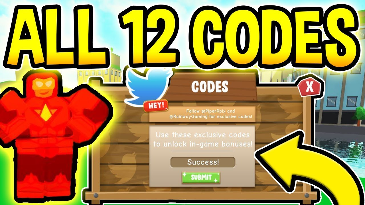 All 12 New Power Simulator Codes New Release Roblox Youtube