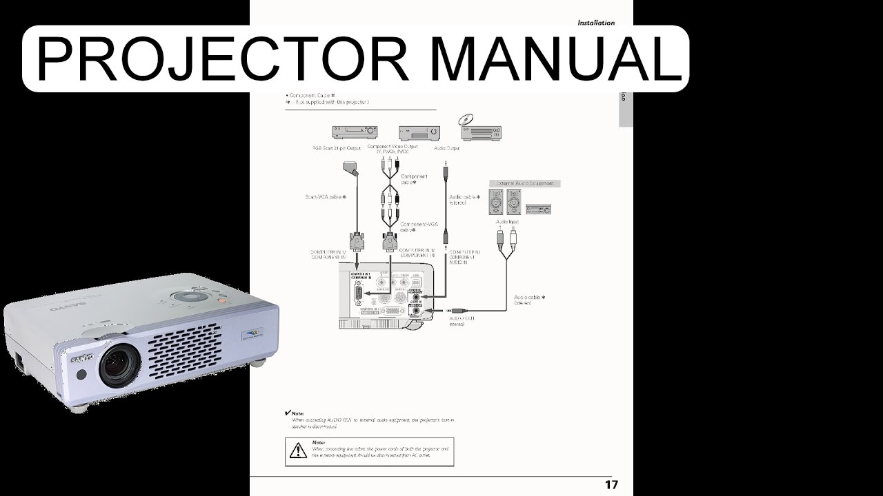 USER MANUAL SANYO PRO XTRAX MULTIVERSE PROJECTOR PLC XU41