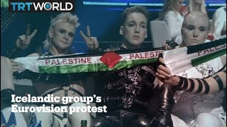 Icelandic band protests Israel at Eurovision