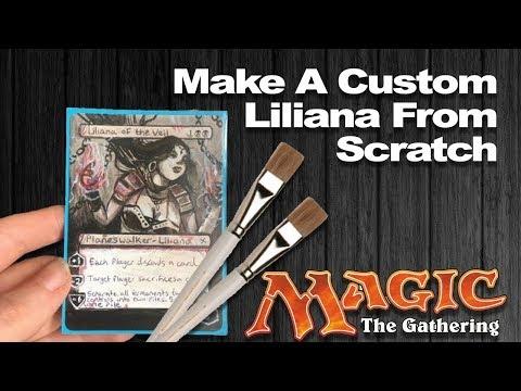 No Money? No Problem! MTG Custom Liliana of the Veil Made From Scratch | blvckink