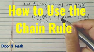 how to find derivative using chain rule find d dx sin y y cos x where y g x