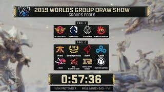 Worlds 2019 & Worlds Play in Groups Draw