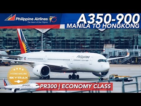 AWESOME NEW PHILIPPINE AIRLINES Airbus A350-900 Flight PR300 Economy Class + FREE LOUNGE Access!