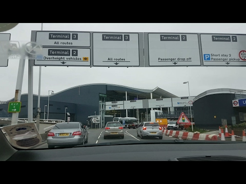 Arriving at Heathrow Airport Terminal 3.